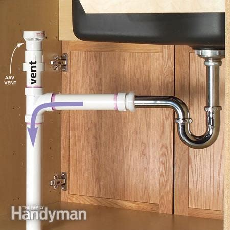 kitchen sink pipe plumbing an island sink the family handyman 2822