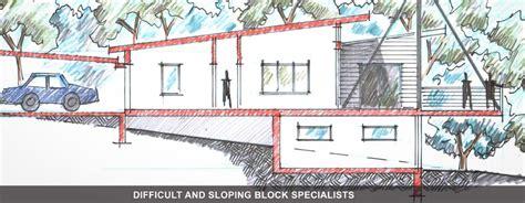 split floor plan house plans difficult sloping blocks brisbane gold coast