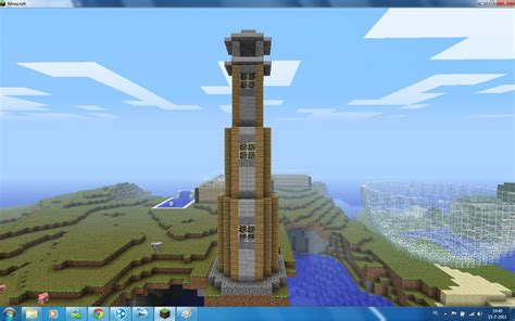 tall tower schematic included minecraft map
