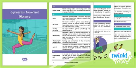 * New * Twinkl Move Pe  Gymnastics Movement Y6 Cpd Glossary  Pe, Indoor
