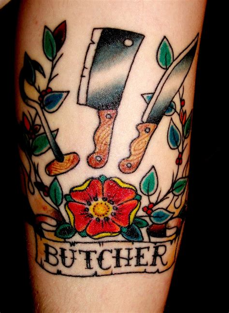 cleaver knife 30 cool tattoos designs ideas