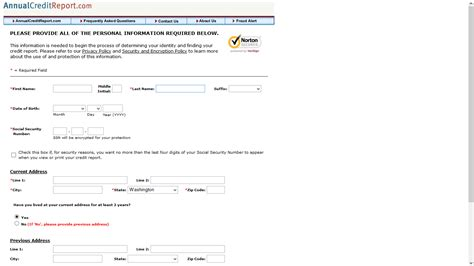 19764 annual credit report form how to access your annual free credit report step by