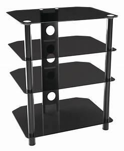 Tv Regal Glas : tv stand mit 4 ablagen glas regal f r led lcd tv ft601 11255 ~ Eleganceandgraceweddings.com Haus und Dekorationen