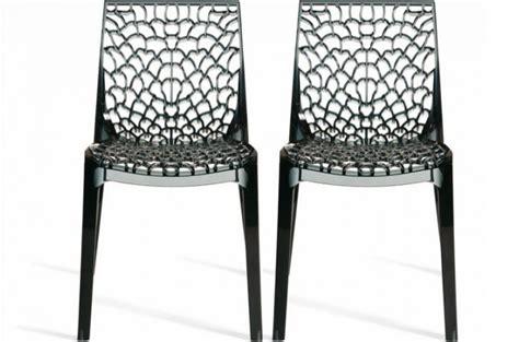 chaises transparentes pas cher lot de 2 chaises fumées transparentes gruyer chaises