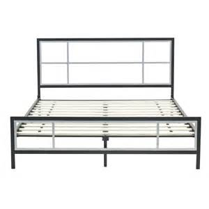 queen size modern platform metal bed frame w headboard