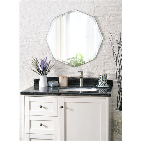 octagon mirrors decorative kenroy home octavia octagon decorative wall mirror 60337