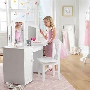 Coiffeuse Pour Chambre : grande coiffeuse en bois pour enfant ~ Teatrodelosmanantiales.com Idées de Décoration
