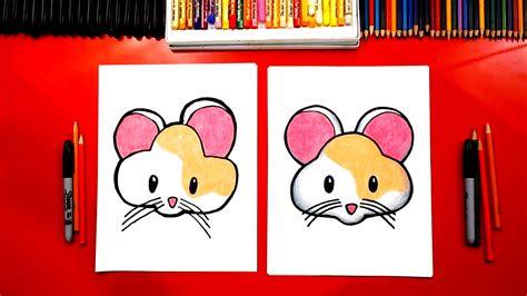 draw  cute hamster emoji art  kids hub