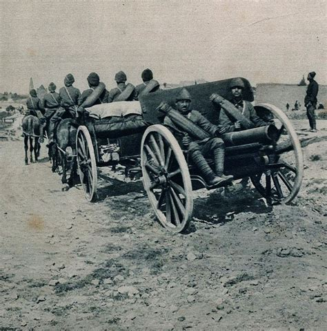 siege pouf ottoman artillery on the march during the battle at the
