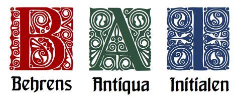 behrens antiqua initialen schriftart dafontcom