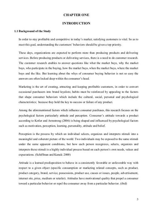 Consumer attitude research paper