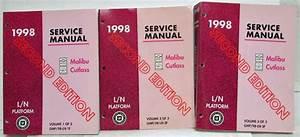 1998 Chevrolet Malibu Olds Cutlass Service Shop Repair Manual Set Vol 1