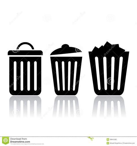 panier de basket de bureau icônes de poubelle illustration de vecteur image 38841082