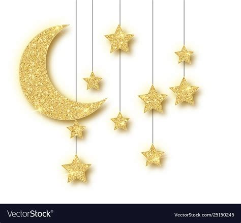 ramadan golden decoration isolated  white vector image