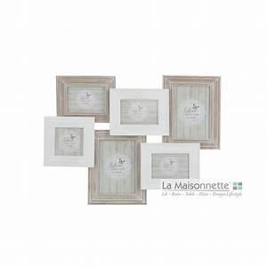 Cadre Photo Pele Mele Bois : cadre 6 photos pele mele en bois verre la maisonnette ~ Melissatoandfro.com Idées de Décoration