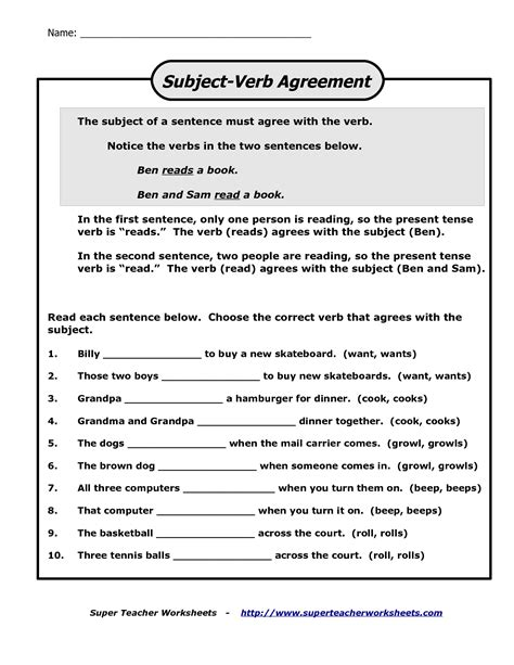 18 best images of subject verb worksheets high school action and linking verbs worksheets