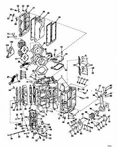 Evinrude Powerhead Group Parts For 1969 115hp 115983s