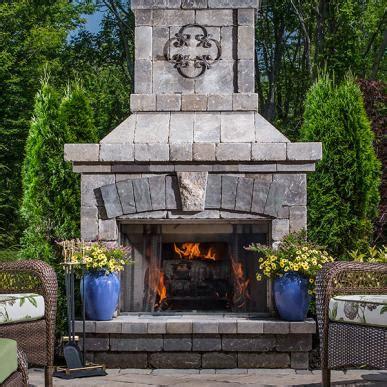 outdoor stone fireplace kitchen kits belgard pavers