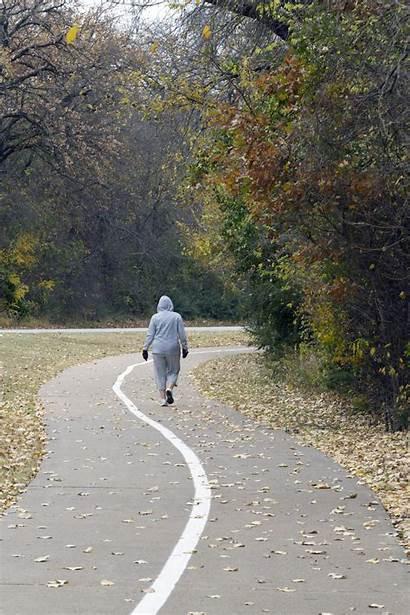 Heart Walking Outside Woman Brain Wide Shot