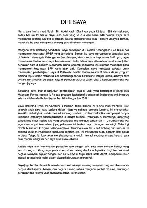 Karangan Perihal Diri Mara Karangan Perihal Diri 1 Photostat Skroll Transcript Akademik Minta Pengetua Sekolah Cop Sahkan