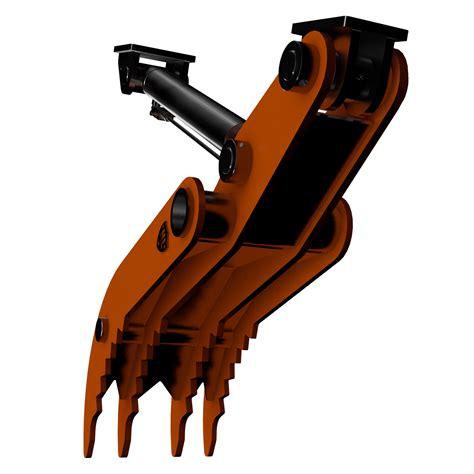 hydraulic excavator thumb