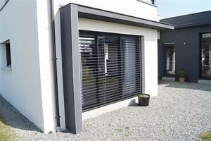 maison moderne monopente toit plat chateaugiron www With casquette de porte d entrée