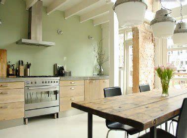 cuisine peinte en vert peinture vert d 39 eau une couleur déco pour salon et cuisine
