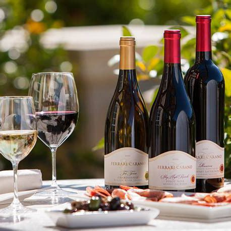 They have brought several wines for tasting. Ferrari-Carano Vineyards and Winery | Geyserville Chamber of Commerce