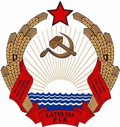 Latvian Ssr Emblem Sovietica Repubblica Socialista Wikipedia