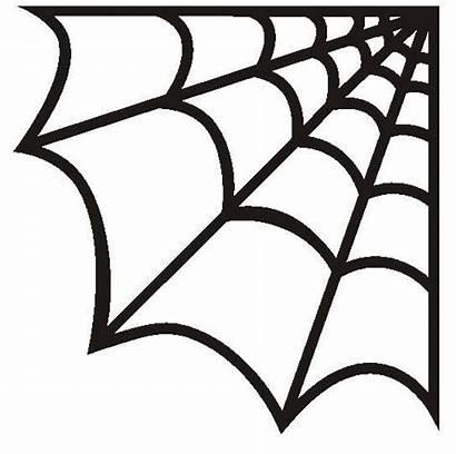 Spider Cobweb Halloween Webs Stencils Web Clipart
