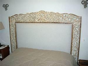 Tete De Lit En Bois Sculpté : tete de lit indienne ~ Dallasstarsshop.com Idées de Décoration