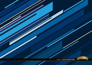 Abstract blue oblique lines background - Free Vector