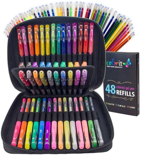 colorit gel pens  adult coloring books premium ink