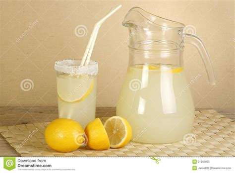 jug  lemonade stock image image  sweet lemon juicy