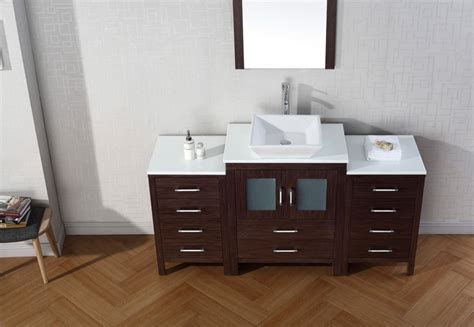 virtu usa   dior bathroom vanity espresso  pure