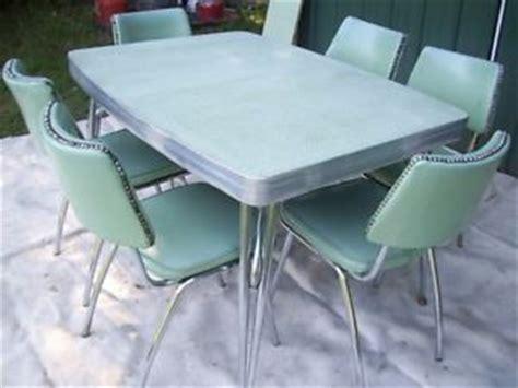retro 1950 s vtg chrome formica table 6 chairs kitchen