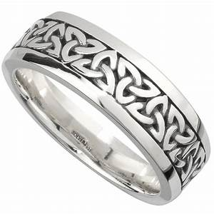 irish wedding band sterling silver mens celtic trinity With celtic mens wedding ring