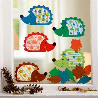 Herbstdeko Fenster Igel by Sachenmacher Kinder Herbst Fensterbilder Igel 15 Teilig