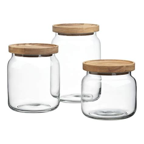 Kitchen Jars Canada by Acacia And Glass Canisters Crate And Barrel Prop