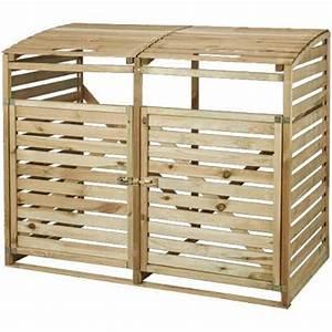 Cache Poubelle Brico Depot : vuilnisbak opberging hout 150 x 120 cm brico voortuin ~ Dailycaller-alerts.com Idées de Décoration