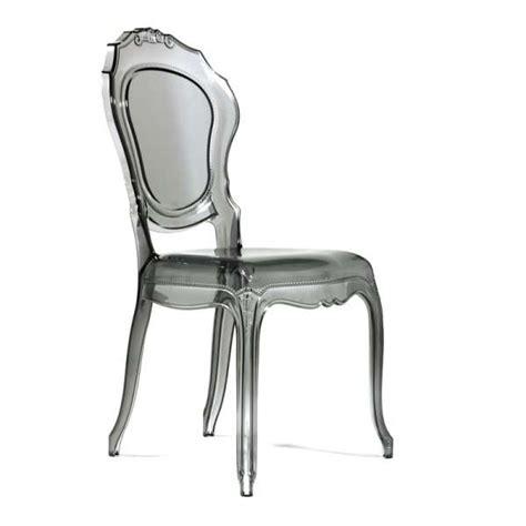 Chaise Design En Polycarbonate  Style Régence Belle