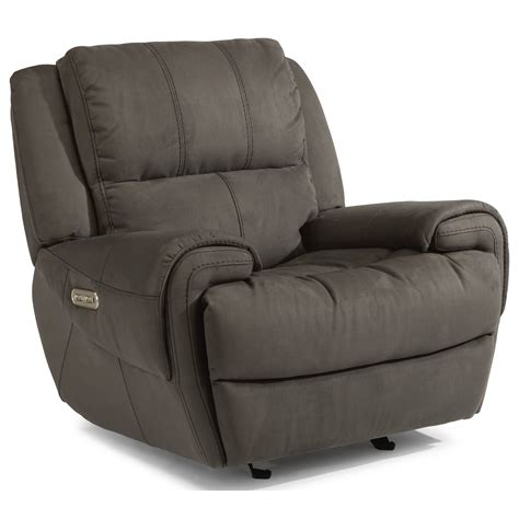 recliner with usb port flexsteel latitudes nance casual power gliding recliner
