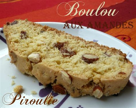 Recette Cuisine Juive - boulou tunisien aux amandes et aux raisins secs la