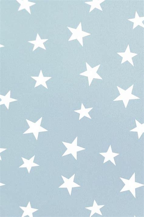 stars sterren behang blauw wit kinderkamer