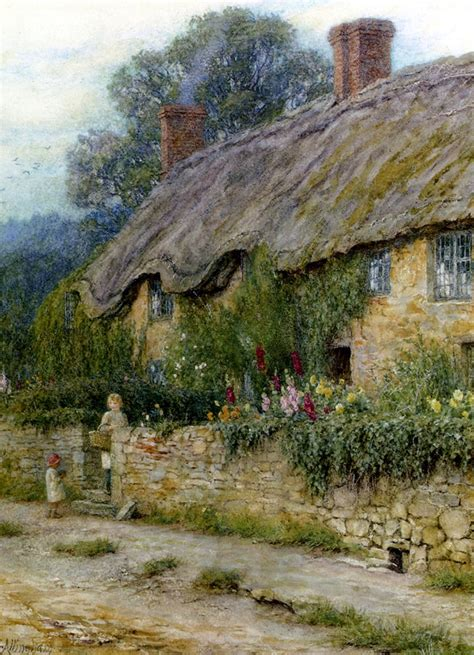 The Cottage Painting by 20 Beautiful Cottage Paintings By Artist Helen