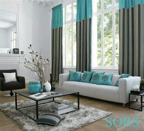 turquesa  gris home decor en  cortinas  salas
