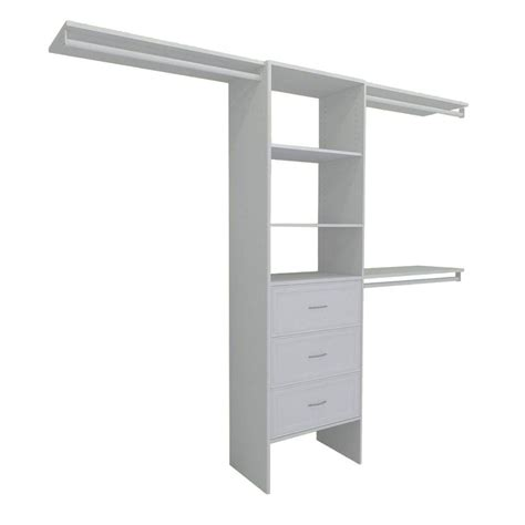 closetmaid shelftrack 7 ft 10 ft white closet