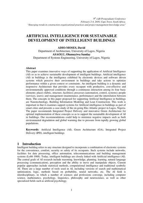 (PDF) ARTIFICIAL INTELLIGENCE FOR SUSTAINABLE DEVELOPMENT