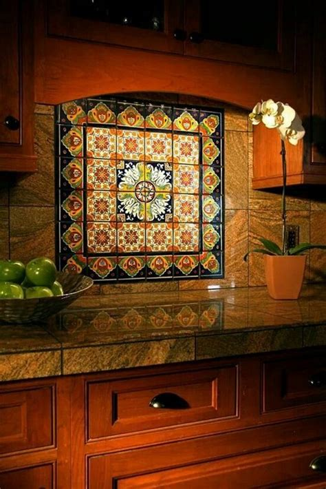 mexican tile backsplash kitchen mexican talavera tile looks 20 photos messagenote