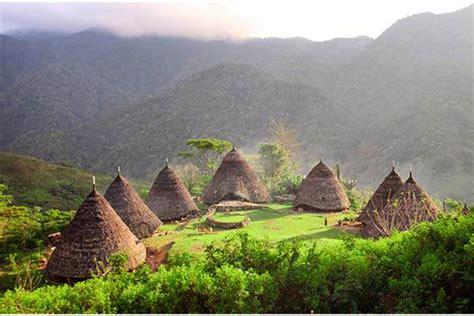 lokasi  rute menuju desa wae rebo destinasi desa